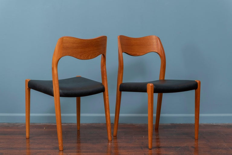 Niels O. Moller Dining Chairs, Model 71 In Good Condition For Sale In San Francisco, CA