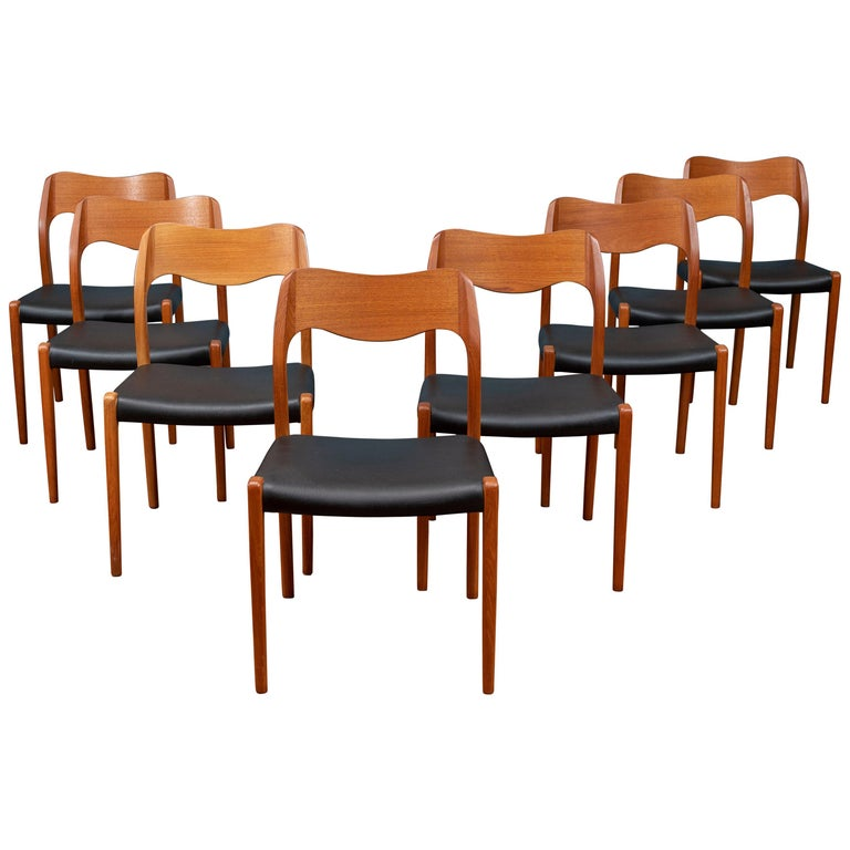 Niels O. Moller Dining Chairs, Model 71 For Sale