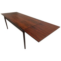 Niels O. Moller Large Extendable Rosewood Dining Table J.L Moller, Denmark 1960s