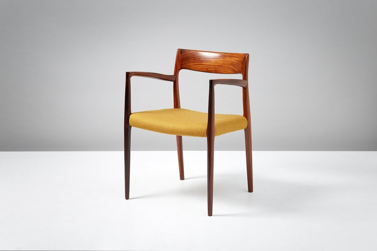 Scandinavian Modern Niels O. Møller Model 57 Rosewood Carver Chair For Sale
