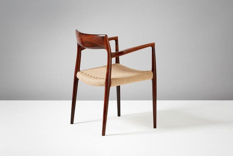 Scandinavian Modern Niels O. Moller Model 57 Rosewood Carver Chair For Sale
