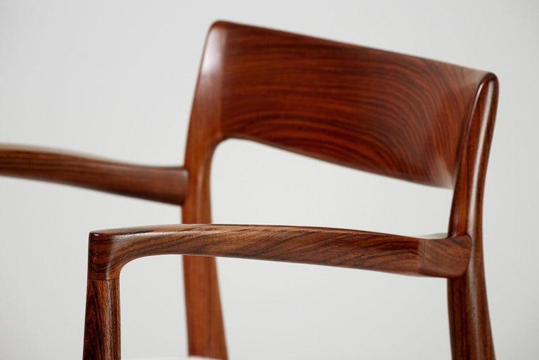 Scandinavian Modern Niels O. Moller Model 57 Rosewood Carver Chair
