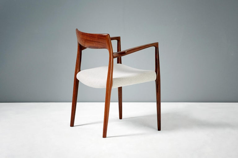 Scandinavian Modern Niels O. Moller Model 57 Rosewood Carver Chair For Sale