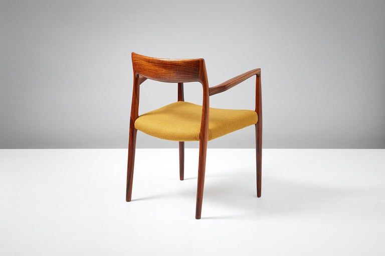 Danish Niels O. Møller Model 57 Rosewood Carver Chair For Sale