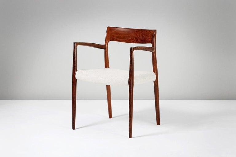 Danish Niels O. Moller Model 57 Rosewood Carver Chair