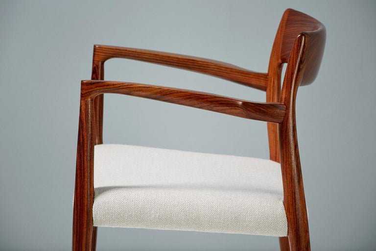 Danish Niels O. Moller Model 57 Rosewood Carver Chair For Sale