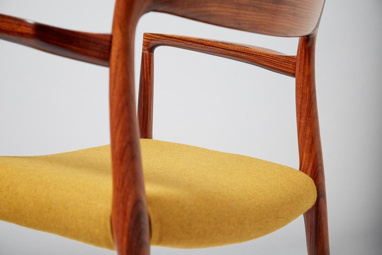Mid-20th Century Niels O. Møller Model 57 Rosewood Carver Chair For Sale