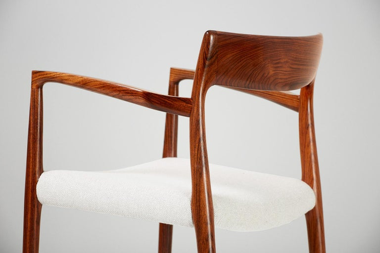 Mid-20th Century Niels O. Moller Model 57 Rosewood Carver Chair