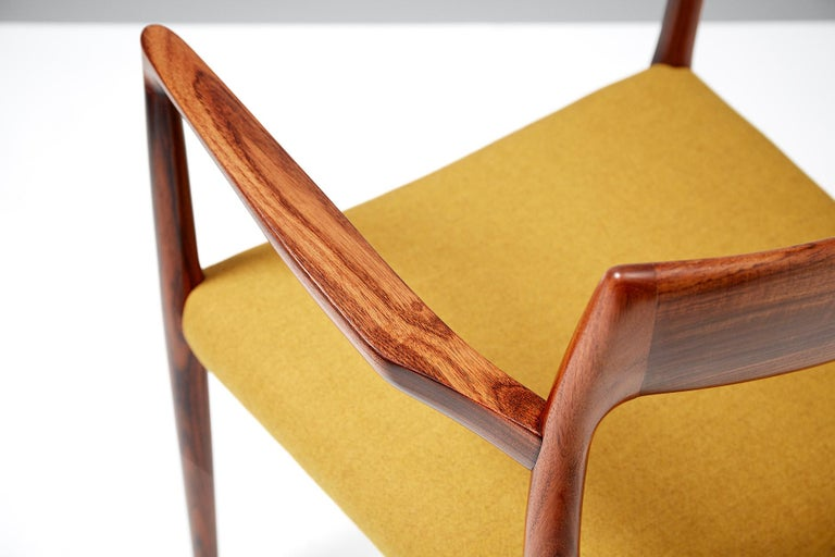 Niels O. Møller Model 57 Rosewood Carver Chair For Sale 1