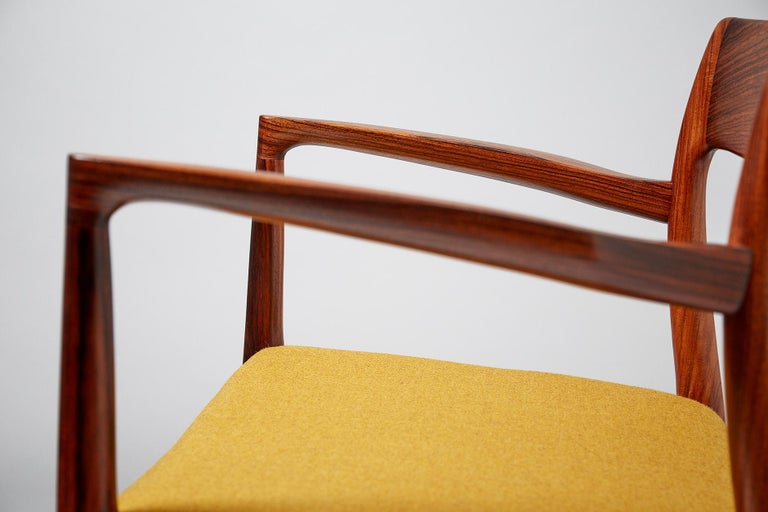 Niels O. Møller Model 57 Rosewood Carver Chair For Sale 2