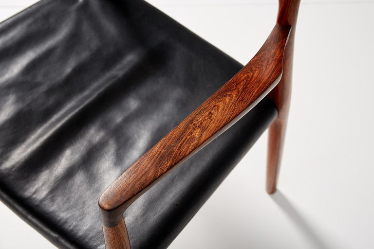 Niels O. Moller Model 57 Rosewood Carver Chair For Sale 2