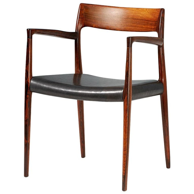 Niels O. Moller Model 57 Rosewood Carver Chair For Sale