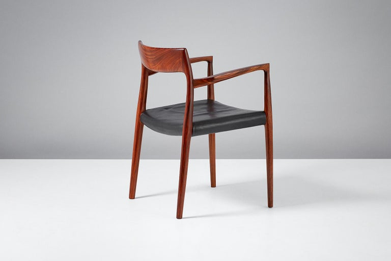 Niels O. Moller Model 57 Rosewood Carver Chairs For Sale 4