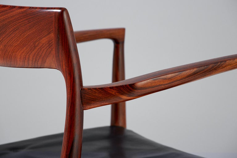 Niels O. Moller Model 57 Rosewood Carver Chairs For Sale 5