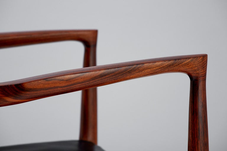 Niels O. Moller Model 57 Rosewood Carver Chairs For Sale 6