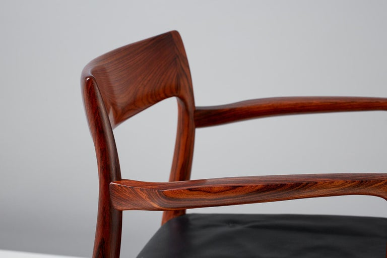 Niels O. Moller Model 57 Rosewood Carver Chairs For Sale 7