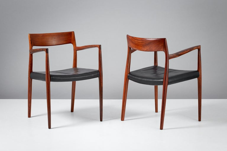 Danish Niels O. Moller Model 57 Rosewood Carver Chairs For Sale