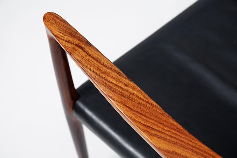 Niels O. Moller Model 57 Rosewood Carver Chairs For Sale 1