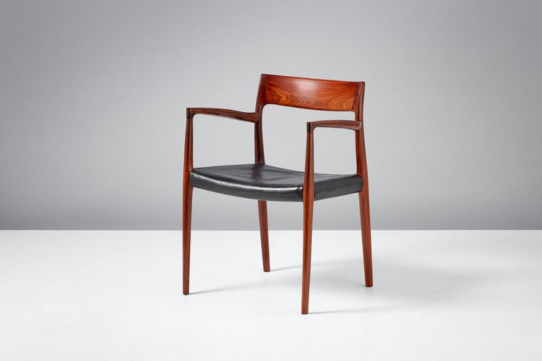 Niels O. Moller Model 57 Rosewood Carver Chairs For Sale 3