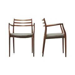 Niels O Moller Model 62 Carver Chairs in Rosewood, JL Moller, Denmark, 1960s