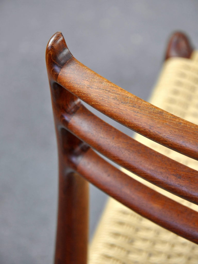Niels O. Moller Model #78 Teak Dining Chairs For Sale 4