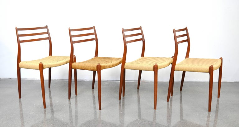 Niels O. Moller Model #78 Teak Dining Chairs For Sale 7