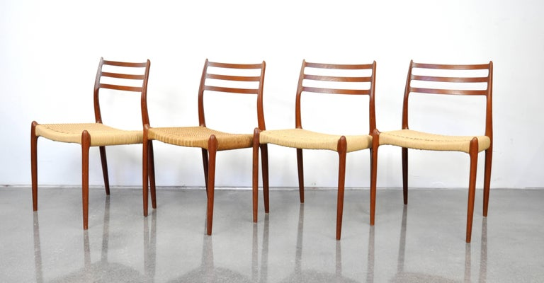 Niels O. Moller Model #78 Teak Dining Chairs For Sale 8