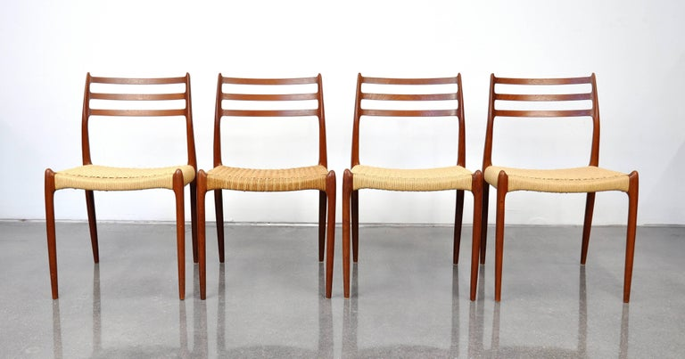 Niels O. Moller Model #78 Teak Dining Chairs For Sale 9