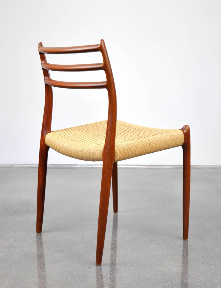 Mid-20th Century Niels O. Moller Model #78 Teak Dining Chairs For Sale