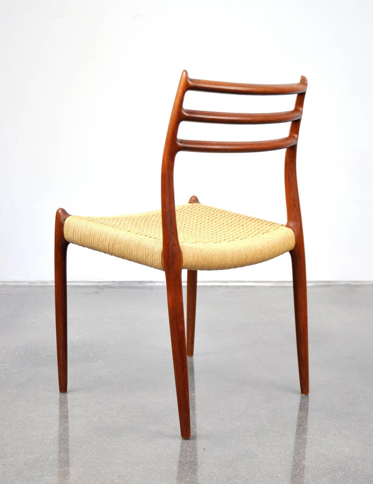 Niels O. Moller Model #78 Teak Dining Chairs For Sale 1