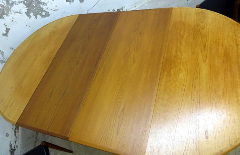 Niels O. Möller No. 75 Danish Modern Teak Dining Table with 6 Chairs, Set, 1960s For Sale 7