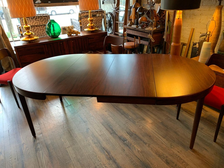 Niels O Moller Round Rosewood Extension Dining Set For Sale 5