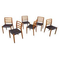 Niels O. Moller Set of 6 Solid Teak Dining Chairs