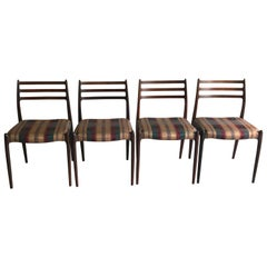 Niels O.Moller Rosewood Dining Chairs Model 78