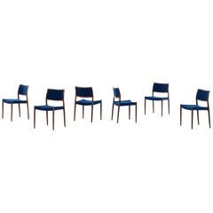 Niels Otto Møller Dining Chairs Model 80 Produced in Denmark
