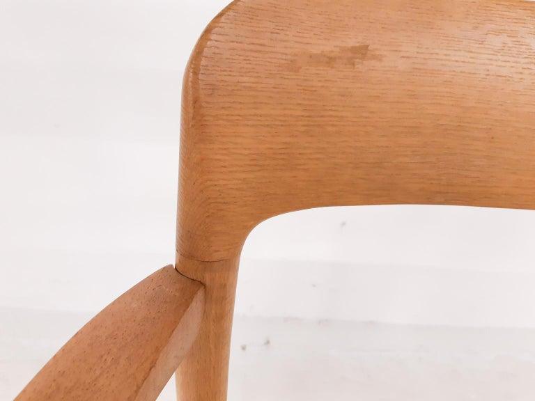 Niels Otto Møller Oak Armchair or Dining Chair, Model 56, Denmark, 1959 For Sale 4
