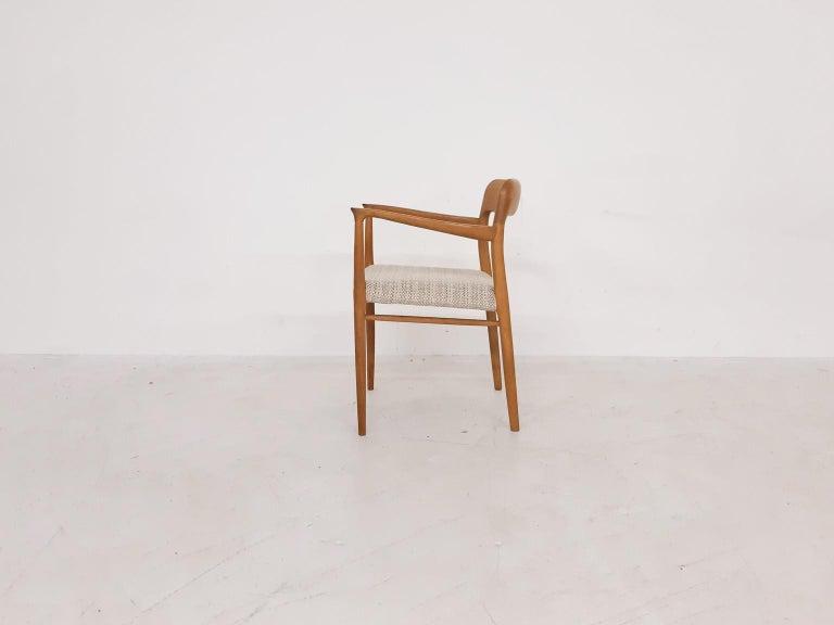Scandinavian Modern Niels Otto Møller Oak Armchair or Dining Chair, Model 56, Denmark, 1959 For Sale
