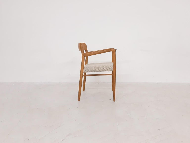 Niels Otto Møller Oak Armchair or Dining Chair, Model 56, Denmark, 1959 In Good Condition For Sale In Amsterdam, NL