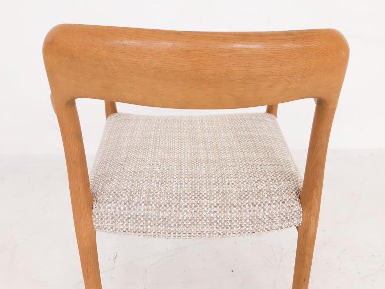 Fabric Niels Otto Møller Oak Armchair or Dining Chair, Model 56, Denmark, 1959 For Sale