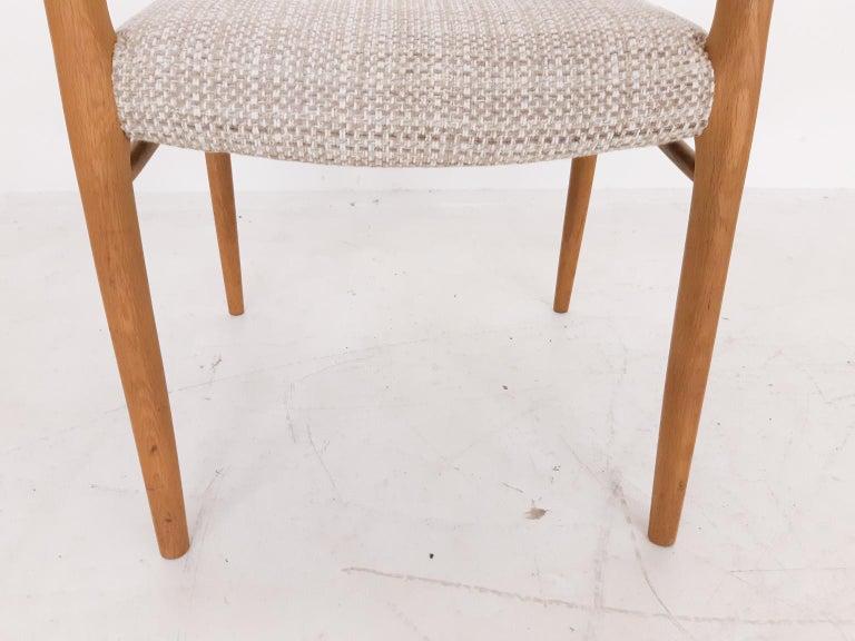 Niels Otto Møller Oak Armchair or Dining Chair, Model 56, Denmark, 1959 For Sale 1
