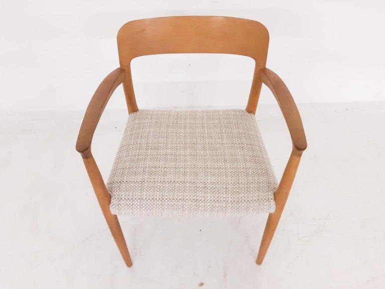 Niels Otto Møller Oak Armchair or Dining Chair, Model 56, Denmark, 1959 For Sale 2