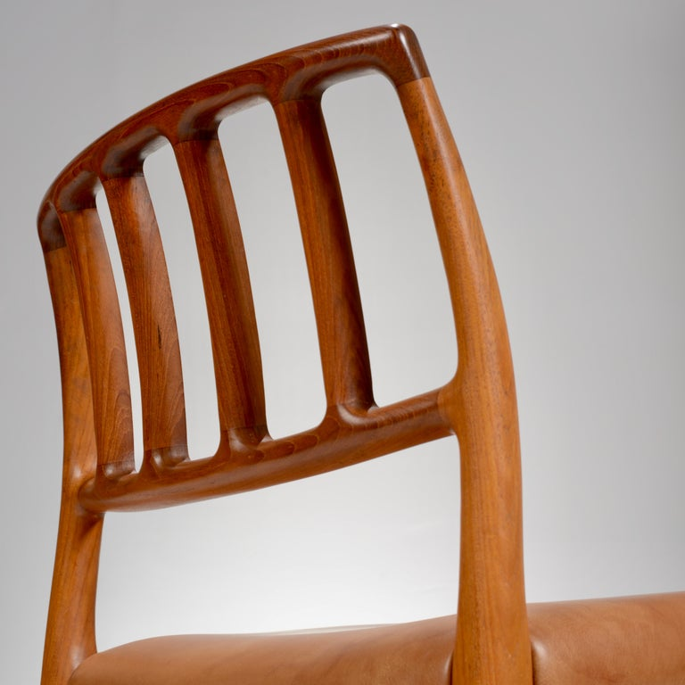 Niels Otto Møller Rosewood and Leather Dining Chairs, Model 83, Set of Six For Sale 7