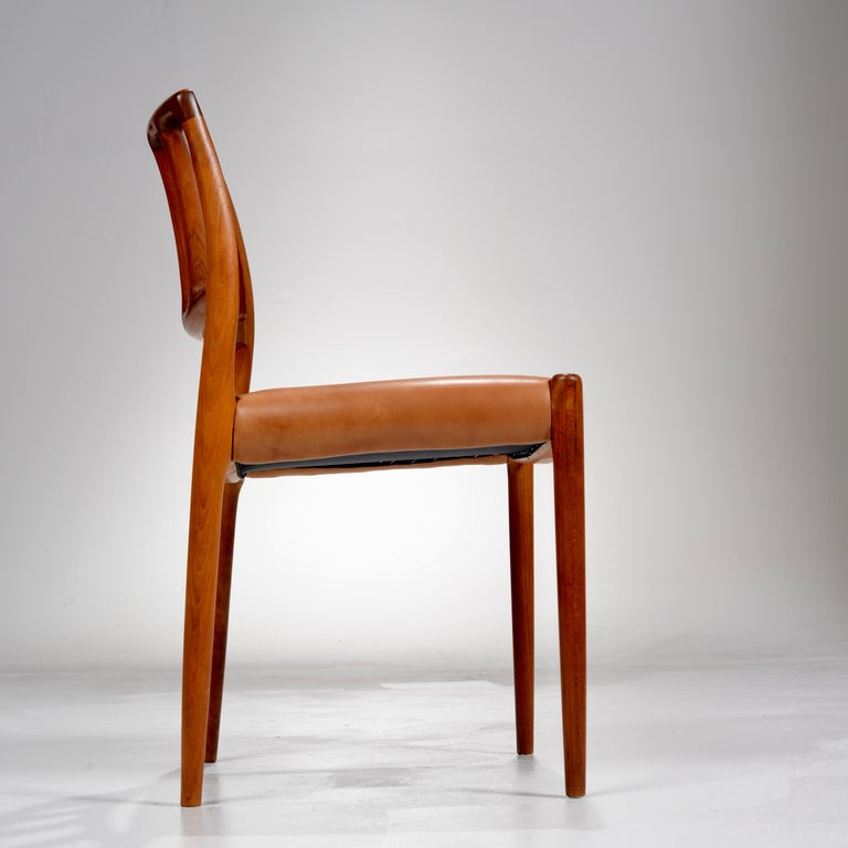 Niels Otto Møller Rosewood and Leather Dining Chairs, Model 83, Set of Six For Sale 8