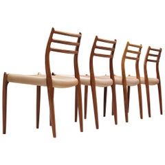 Niels Otto Møller Set of Four Dining Chairs