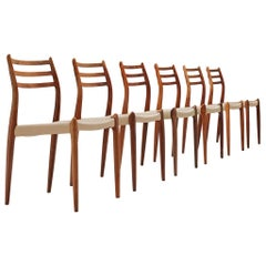 Niels Otto Møller Set of Six Dining Room Chairs