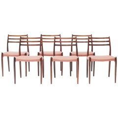 Niels Otto Møller, Set of Six Dinning Chairs, Model 78