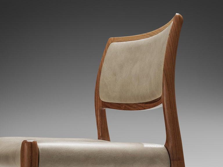 Niels OttoMøller Set of Six Dining Chairs Model 80 in Teak For Sale 3