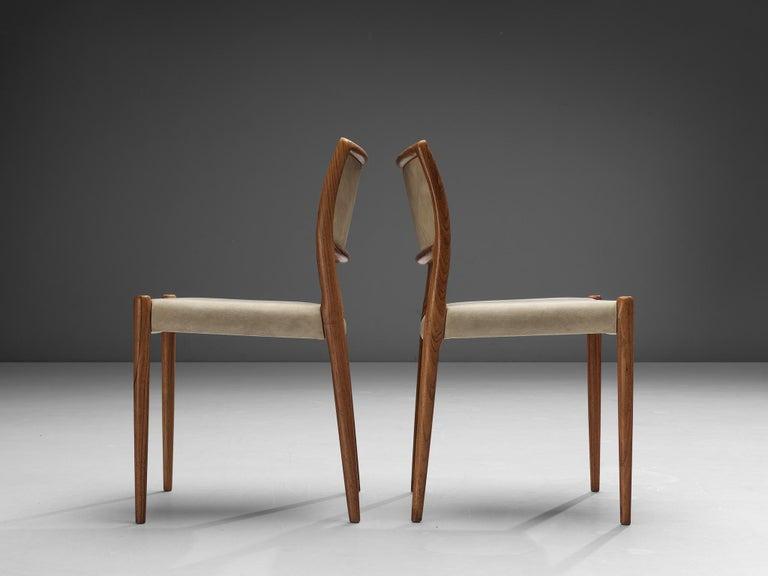 Mid-Century Modern Niels OttoMøller Set of Six Dining Chairs Model 80 in Teak For Sale
