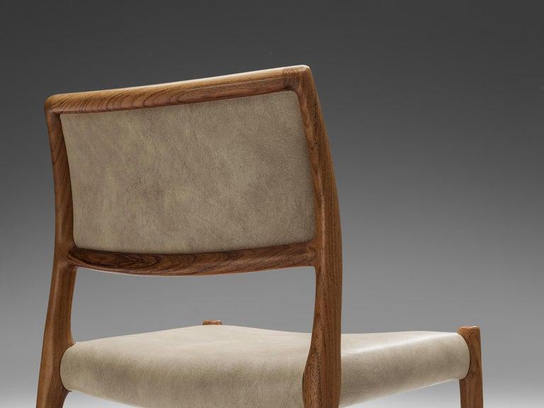 Danish Niels OttoMøller Set of Six Dining Chairs Model 80 in Teak For Sale