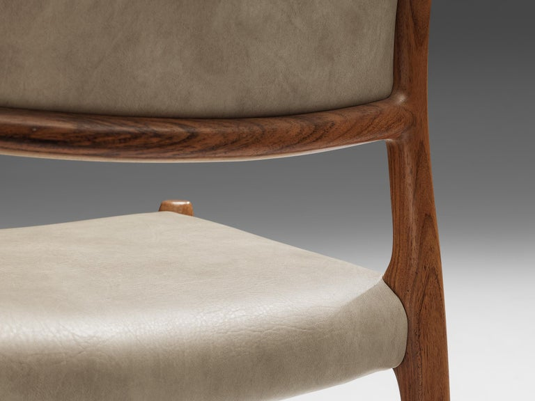 Mid-20th Century Niels OttoMøller Set of Six Dining Chairs Model 80 in Teak For Sale